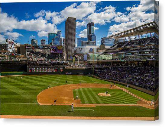 An Afternoon At Target Field Canvas Print