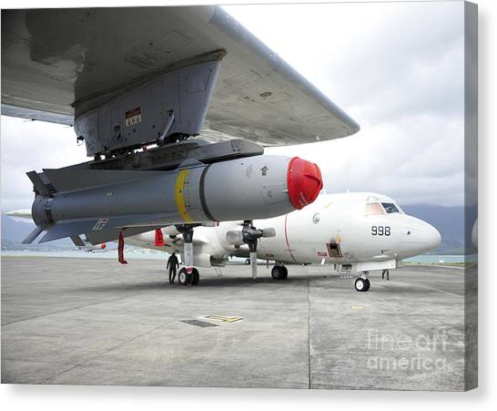Warheads Canvas Print - An Agm-65 Maverick Tactical Missile by Stocktrek Images