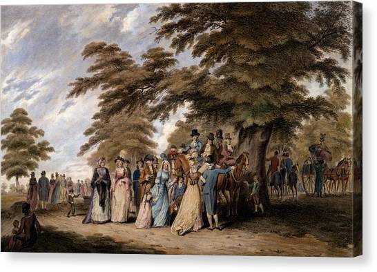 Hyde Park Canvas Print - An Airing In Hyde Park, 1796 by Edward Days