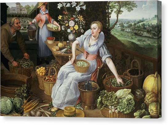 Cabbage Canvas Print - An Allegory Of Summer by Lucas van Valckenborch