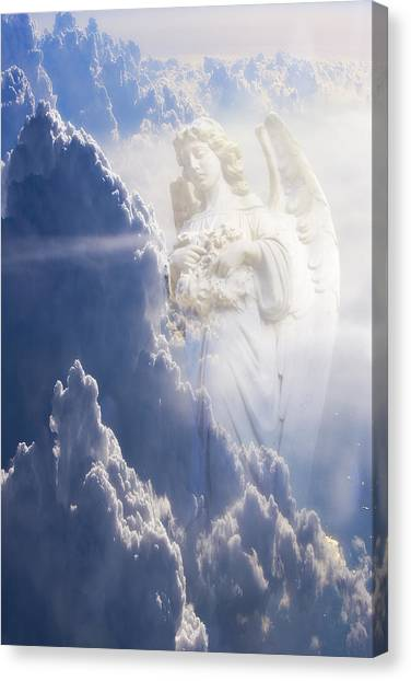 An Angel In The Clouds Canvas Print by Jim Zuckerman