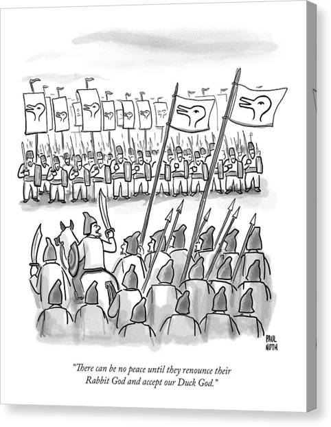 December Canvas Print - An Army Lines Up For Battle by Paul Noth