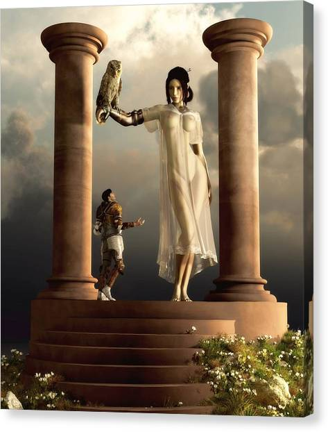 An Audience With Athena Canvas Print