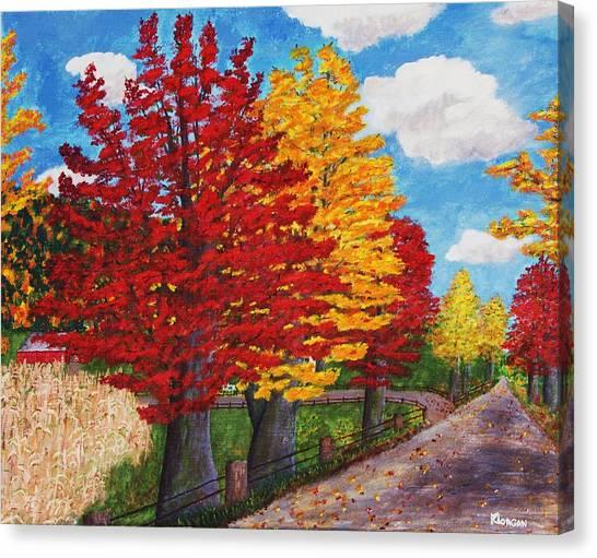 An Autumn Drive Canvas Print