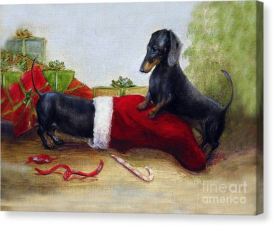 An Early Christmas Canvas Print by Stella Violano