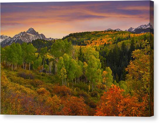 An Early Fall Morning Canvas Print