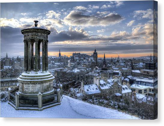 An Edinburgh Winter Canvas Print