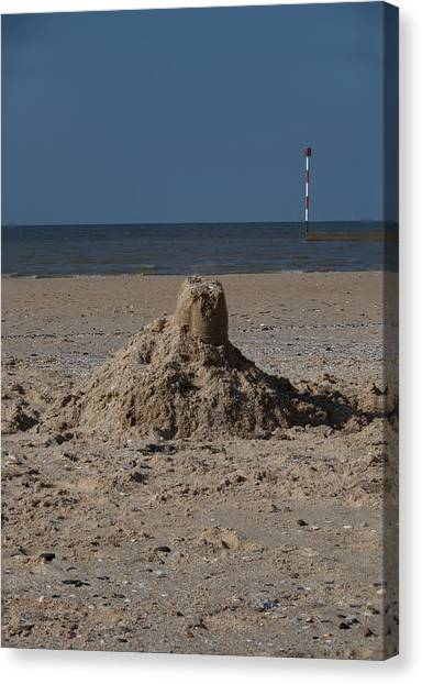 Sandcastle Canvas Print - An Englishman's Home Is His Castle by Nigel Jones