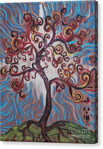 An Enlightened Tree Canvas Print