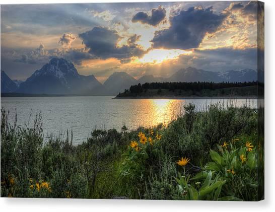 An Evening At Jackson Lake Canvas Print