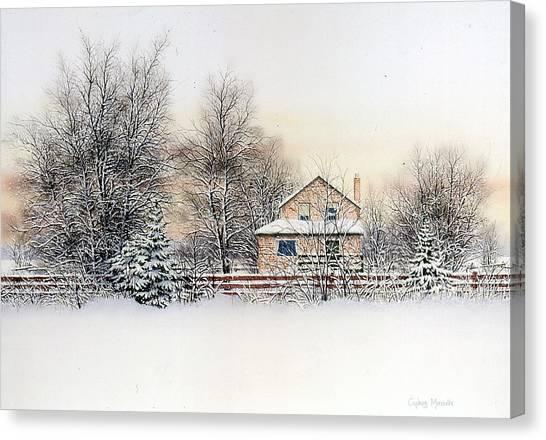 An Evening Silent And Still Canvas Print by Conrad Mieschke