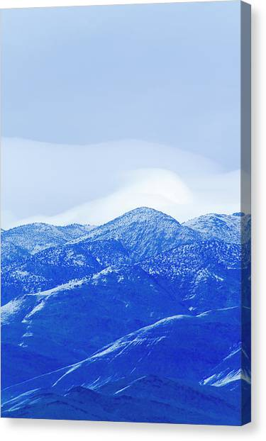 Bishop Hill Canvas Print - An Evening View Of A Mountainside by Jonathan Kingston