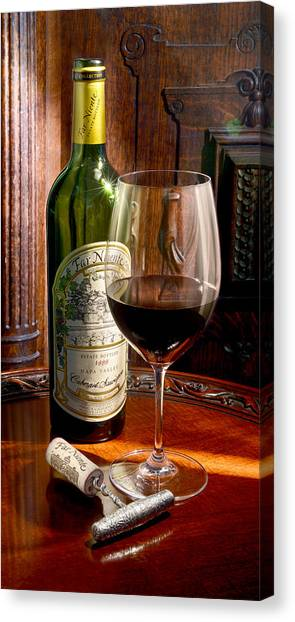 Cognac Canvas Print - An Evening With Far Niente by Jon Neidert
