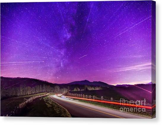 An Explosion In The Milky Way Canvas Print
