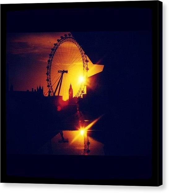 London Eye Canvas Print - An Eye For An Eye by Peter Bromfield