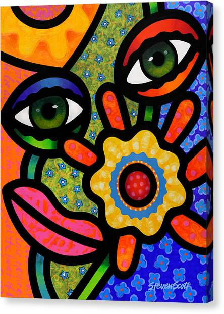 An Eye On Spring Canvas Print