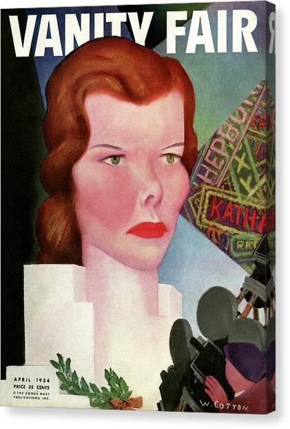 Katharine Hepburn Vanity Fair Cover Canvas Print by William Cotton