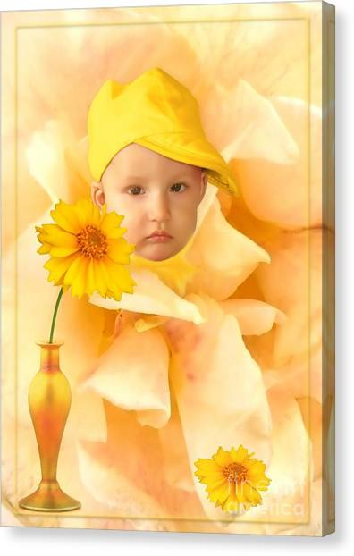 An Image Of A Photograph Of Your Child. - 09 Canvas Print