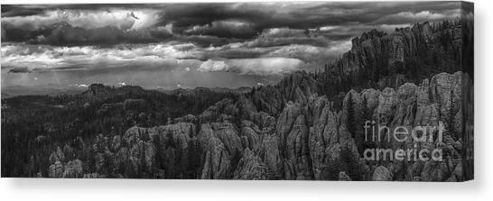 An Incoming Storm Over The Black Hills Of South Dakota Canvas Print