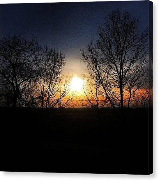 Iowa Canvas Print - An Iowa Sunrise, Back To Tampa We Go! by Erik Hogan