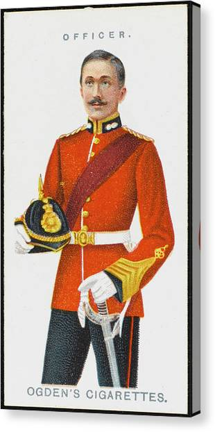 Royal Marines Canvas Print - An Officer From The Royal  Marines by Mary Evans Picture Library