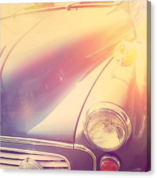 Machinery Canvas Print - An  #old #car ... #oldcar  #vintage by Alexandra Cook