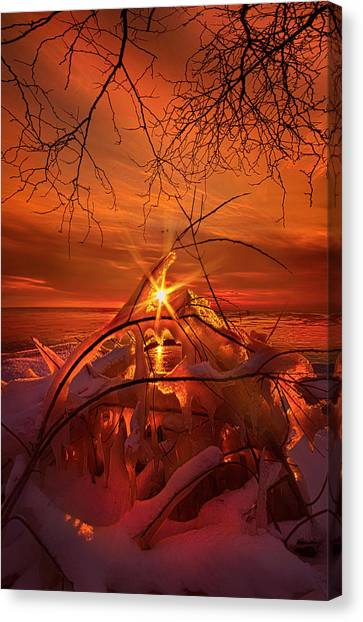 Ice Caves Canvas Print - An Old Peaceful Tale by Phil Koch