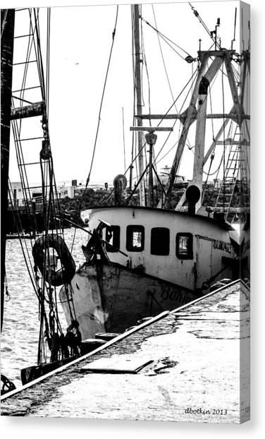 An Old Trawler Canvas Print