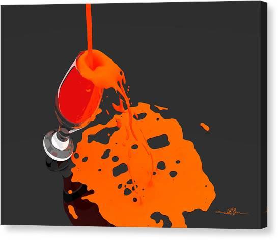 An Orange Dream Canvas Print