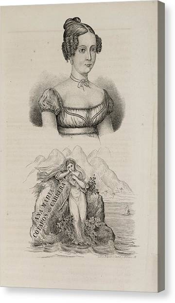 American Independance Canvas Print - Ana Maria Cotapos De Carrera by British Library