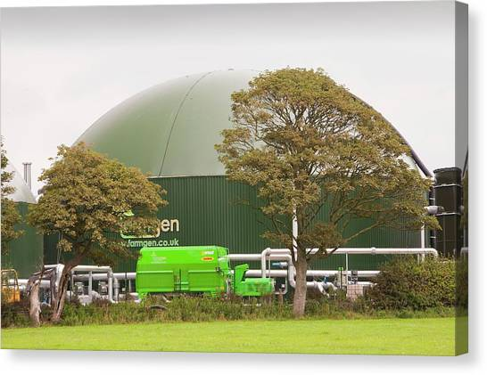 Clean Energy Canvas Print - Anaerobic Biodigester by Ashley Cooper