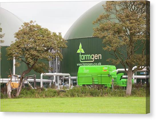 Clean Energy Canvas Print - Anaerobic Biodigesters by Ashley Cooper