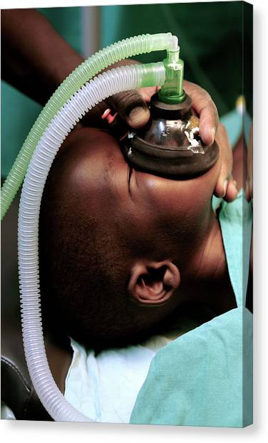 Unconscious Canvas Print - Anaesthesia by Mauro Fermariello/science Photo Library
