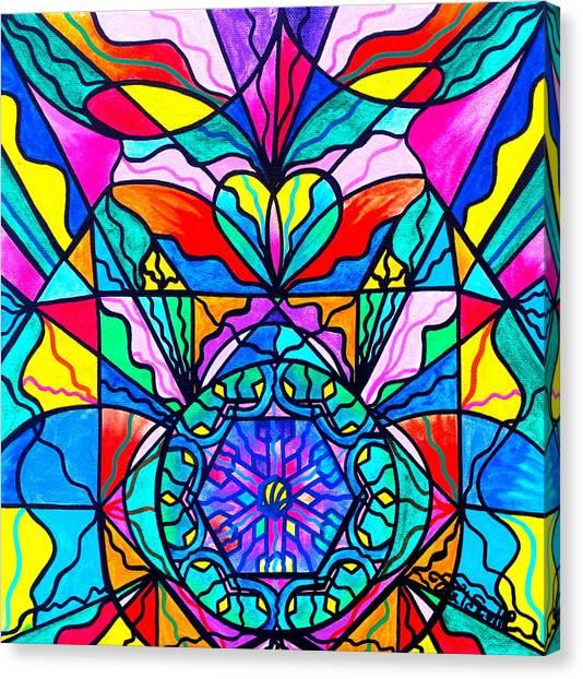 Sacred Geometry Canvas Print - Anahata by Teal Eye  Print Store