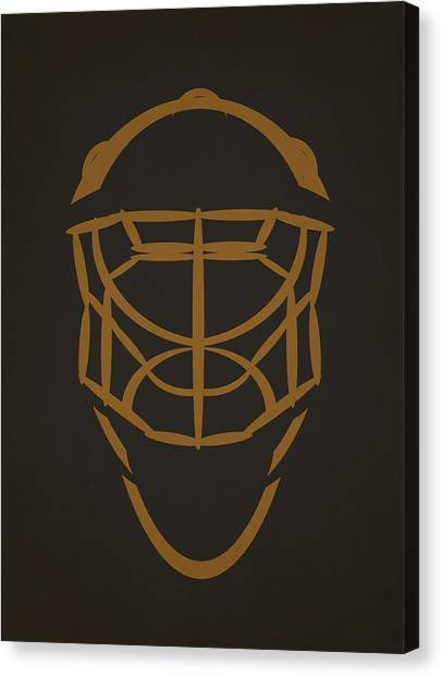Anaheim Ducks Canvas Print - Anaheim Ducks Goalie Mask by Joe Hamilton