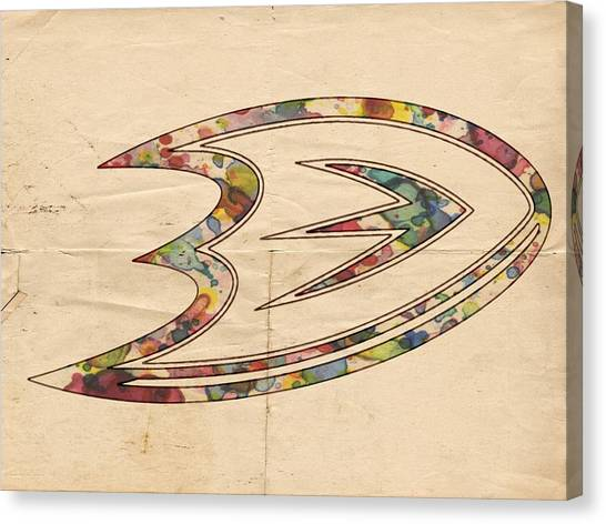 Anaheim Ducks Canvas Print - Anaheim Ducks Logo Art by Florian Rodarte