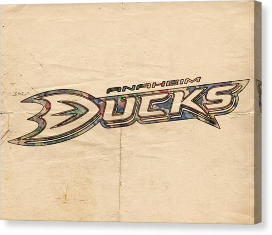 Anaheim Ducks Canvas Print - Anaheim Ducks Poster Art by Florian Rodarte