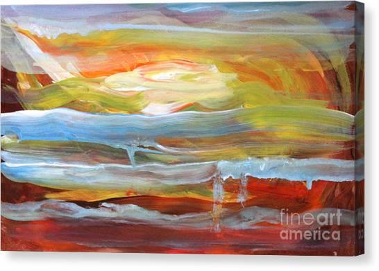 Canvas Print - Anarchist Sunset  by Anne Cameron Cutri