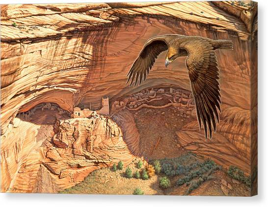 Eagle Canvas Print - Anasazi - Ancient Ones by Paul Krapf