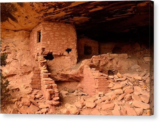 Anasazi Ruins At Comb Ridge Canvas Print