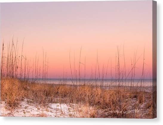 Anastasia Beach Dunes Sunset Canvas Print
