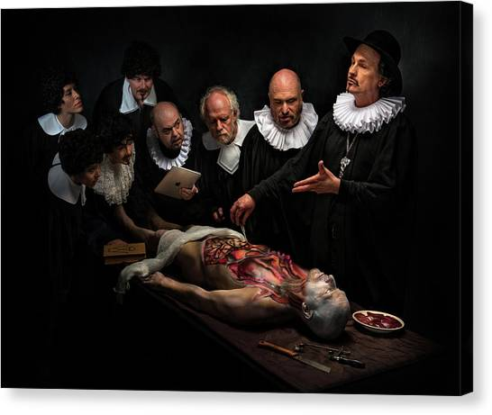 Humour Canvas Print - Anatomy Lesson II by