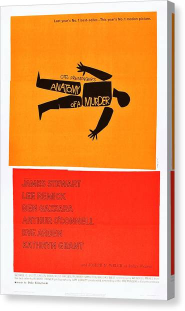 1950s Movies Canvas Print - Anatomy Of A Murder, 1959 by Everett