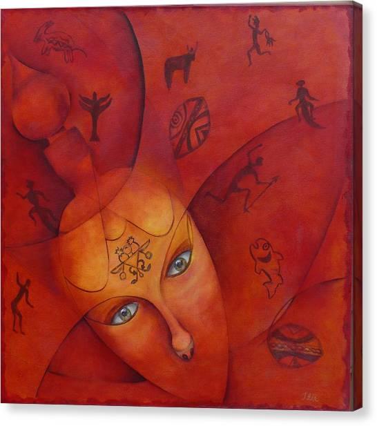 Ancestral Mask-sold Canvas Print