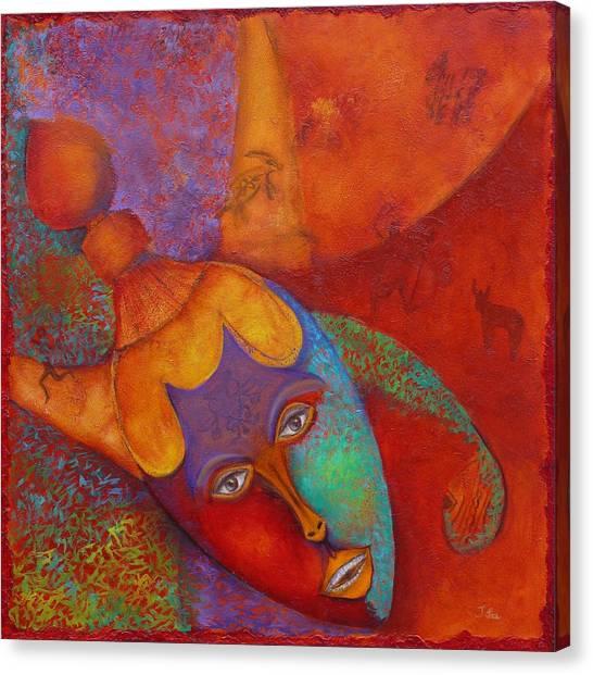 Ancestral Mask Canvas Print
