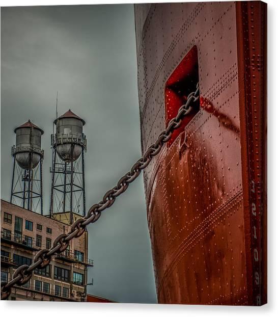American Steel Canvas Print - Anchor Chain by Paul Freidlund