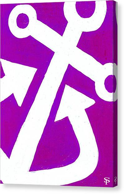 Delta Gamma Canvas Print - Anchor-magenta by Catherine Peters