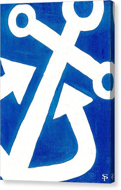 Delta Gamma Canvas Print - Anchor- Royal Blue by Catherine Peters