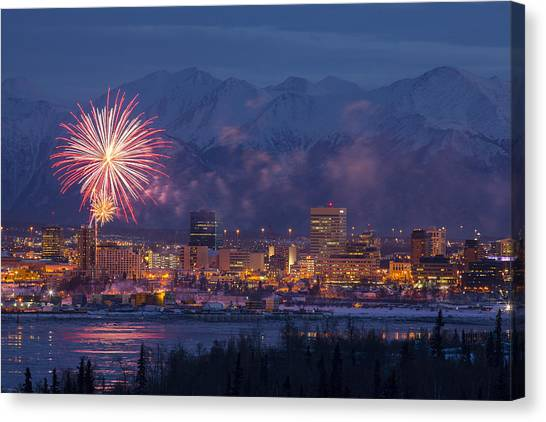 Anchorage Fireworks Six Photograph By Tim Grams