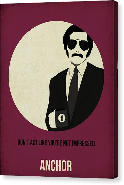 Tv Shows Canvas Print - Anchorman Poster by Naxart Studio